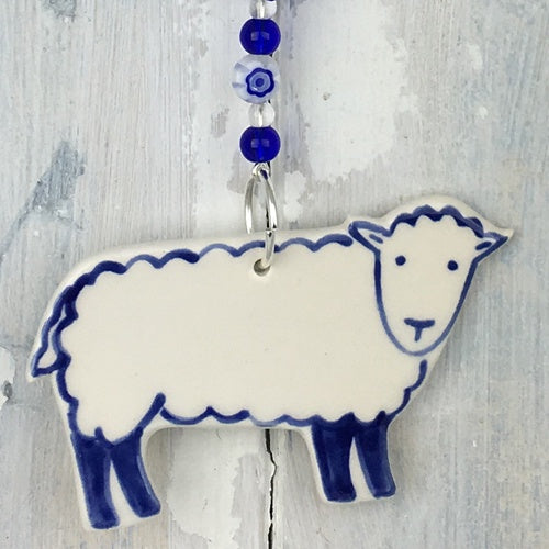 Blue Herdwick Sheep Hanging Decoration