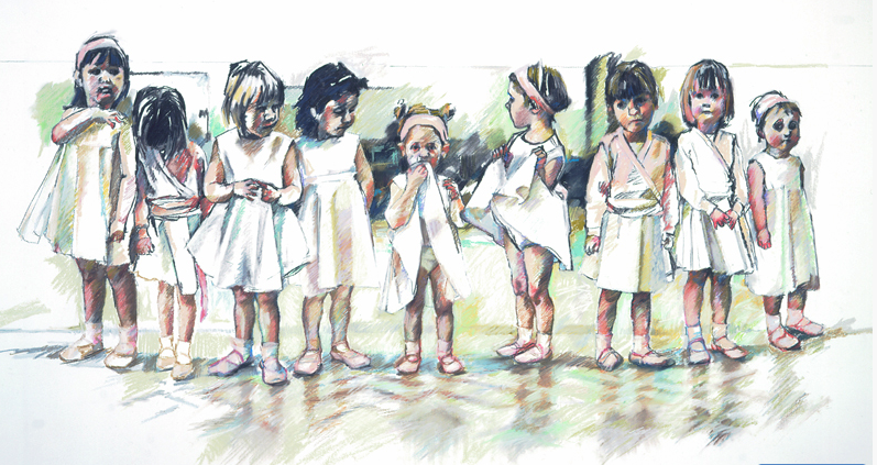 Saturday Morning Ballet Class Ltd Ed Print sold on behalf of Arwen Banning