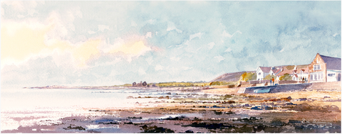 The Salt House Port Eynon Point Long Print sold on behalf of R N Banning