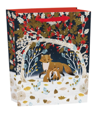 Frosty Forest Gift Bag 25cm w x 31cm h