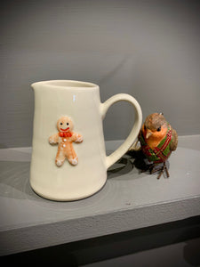 Ceramic Mini Jug with Gingerbread Man