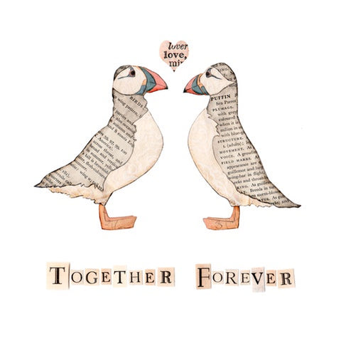 Together Forever Puffins Open Edition Print sold on behalf of Rachel Biddulph