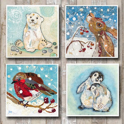 Wintry Christmas Card Set - 8 pack
