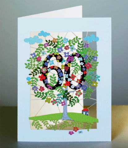 Age 60 Tree Greetings Card