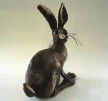 Ceramic Hare 32cm high 27cm long