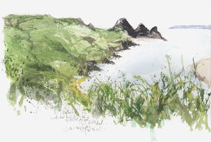 Three Cliffs Bay Screenprint Sold on Behalf of Kelly Stewart