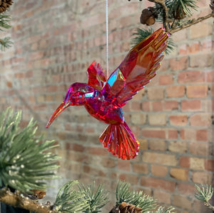Red Acrylic Hummingbird Decoration