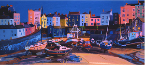 Tenby Harbour ltd ed print sold on behalf of Michelle Scragg