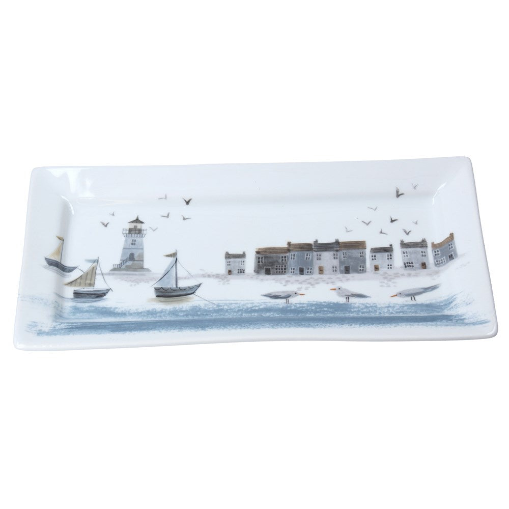 Bone China Platter - Coastal Scene