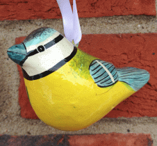 Blue Tit Hanging Decoration Fair Trade