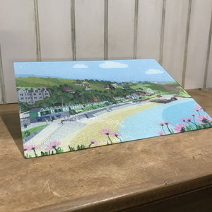 Langland Bay Glass Chopping Board sold on behalf of Noodle Design