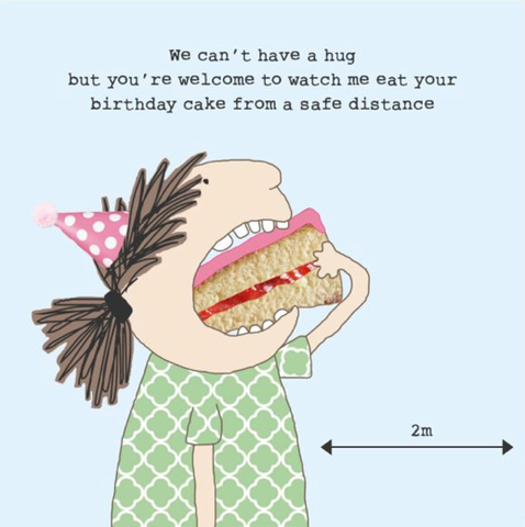 Cake Distance Greetings Card