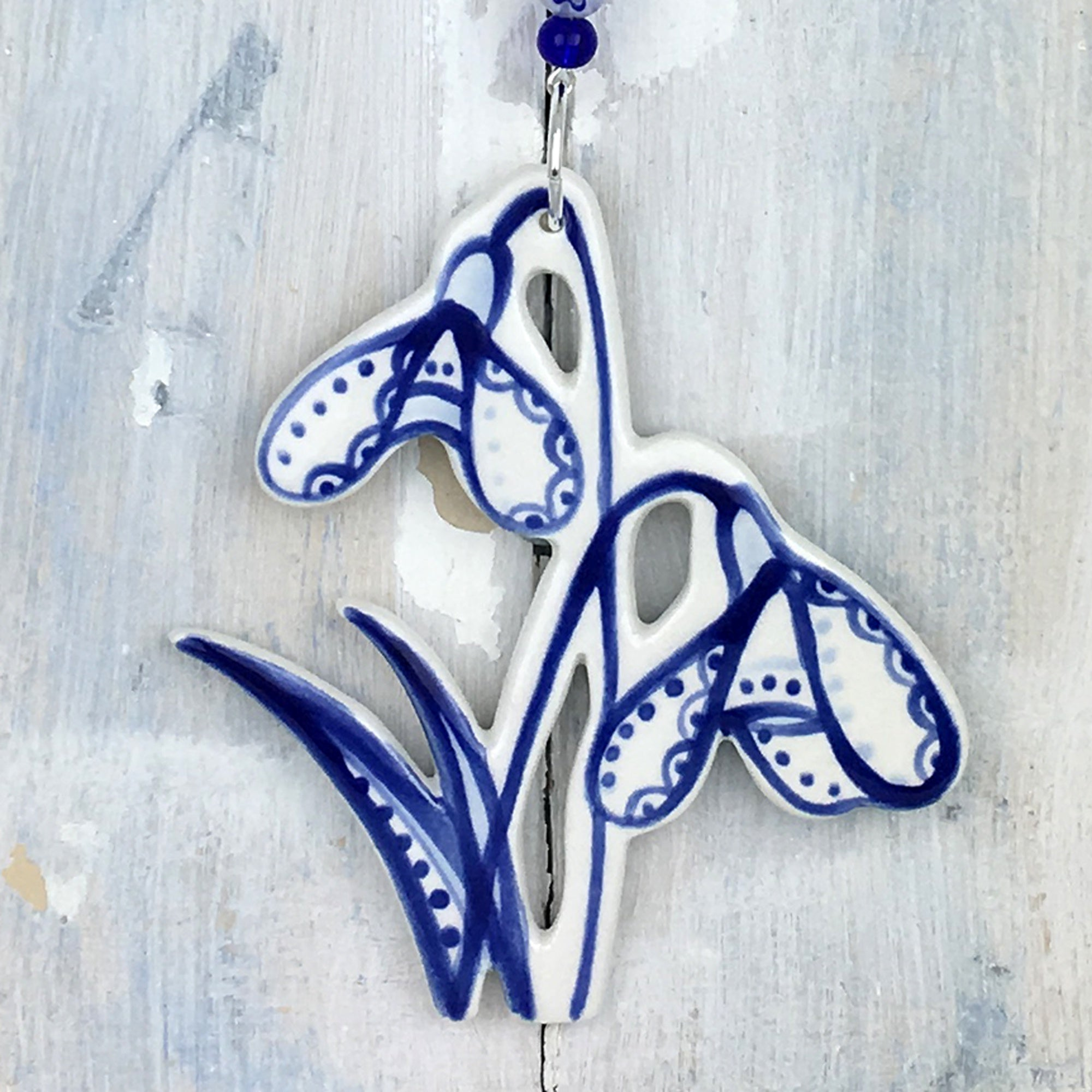 Blue Snowdrop Decoration