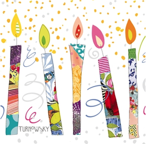 Birthday Candles Napkins 33x33 cm