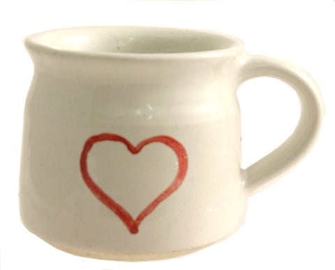Red Heart Ceramic Mug