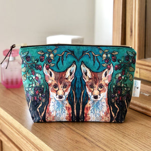 Make up bag Fox in Brambles