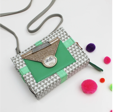 Pompom Tutti Triangle Mini Clutch