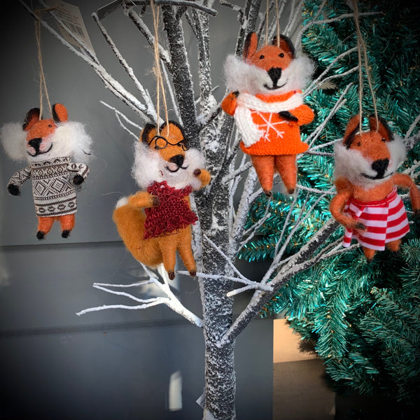 Wool Mix Dressed Fox Decoration
