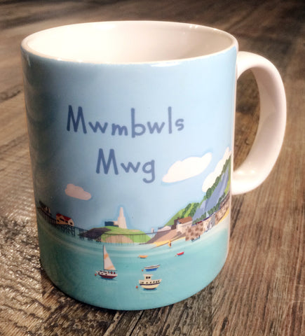 Mwg Mwmbwls (Mumbles Headland Mug) sold on behalf of Noodle Design