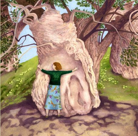 In Moments of Uncertainty Hug A Tree Ltd Ed Giclee Print sold on behalf of Ellie Ling