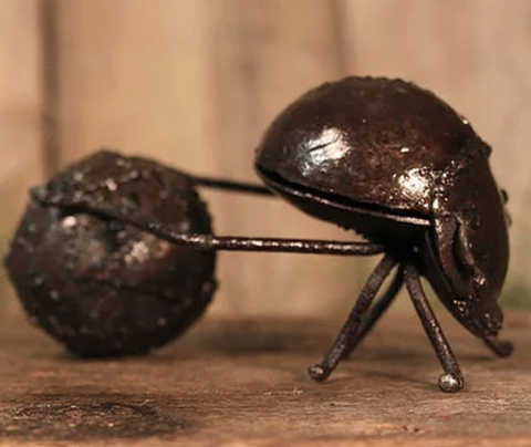 Dung Beetle Recycled Metal