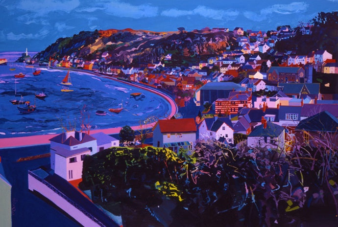 Blue Calm Mumbles ltd ed print sold on behalf of Michelle Scragg