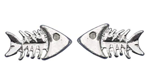 Handmade Dead Fish Cufflinks in solid pewter
