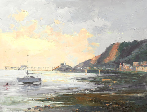 First Light Mumbles Greetings Card by R N Banning