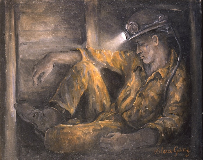 Miner Resting 43 x 34 cm print Sold on Behalf of Valerie Ganz