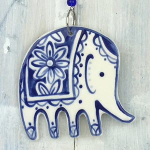 Blue Elephant Hanging Decoration