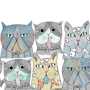 Cats That Party Card by Hannah Davies