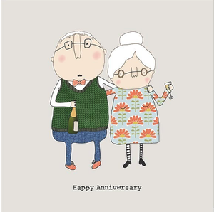 Happy Anniversary Greetings Card by Rosie Made a Thing