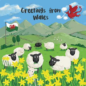 Greetings from Wales Card - CAR045