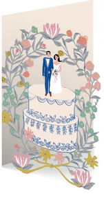 Wedding Cake Topper Lasercut Card