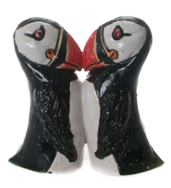 Puffin Sculpture Kissing Pair by Anka Christof