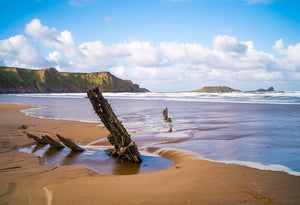 Incoming Tide Rhossili sold on behalf of Noodle Photography
