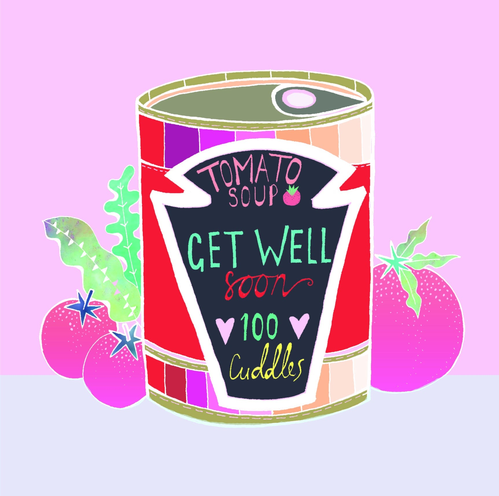 Get Well Soon - 100 Cuddles Card