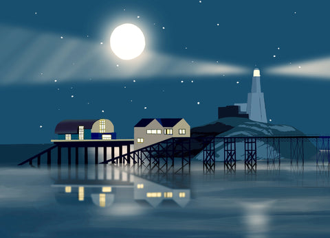 Night Time Mumbles Giclee Print sold on behalf of Noodle Design