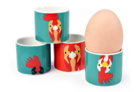 Plucky chicken set of 4 fine china egg cups