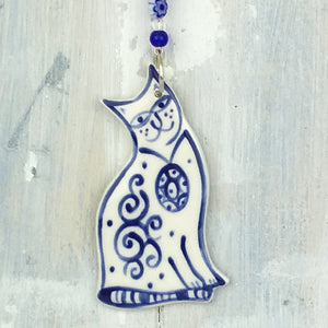 Blue Cat Hanging Decoration
