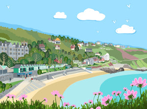 Langland Bay Chromaluxe Print Panel sold on behalf of Noodle Design