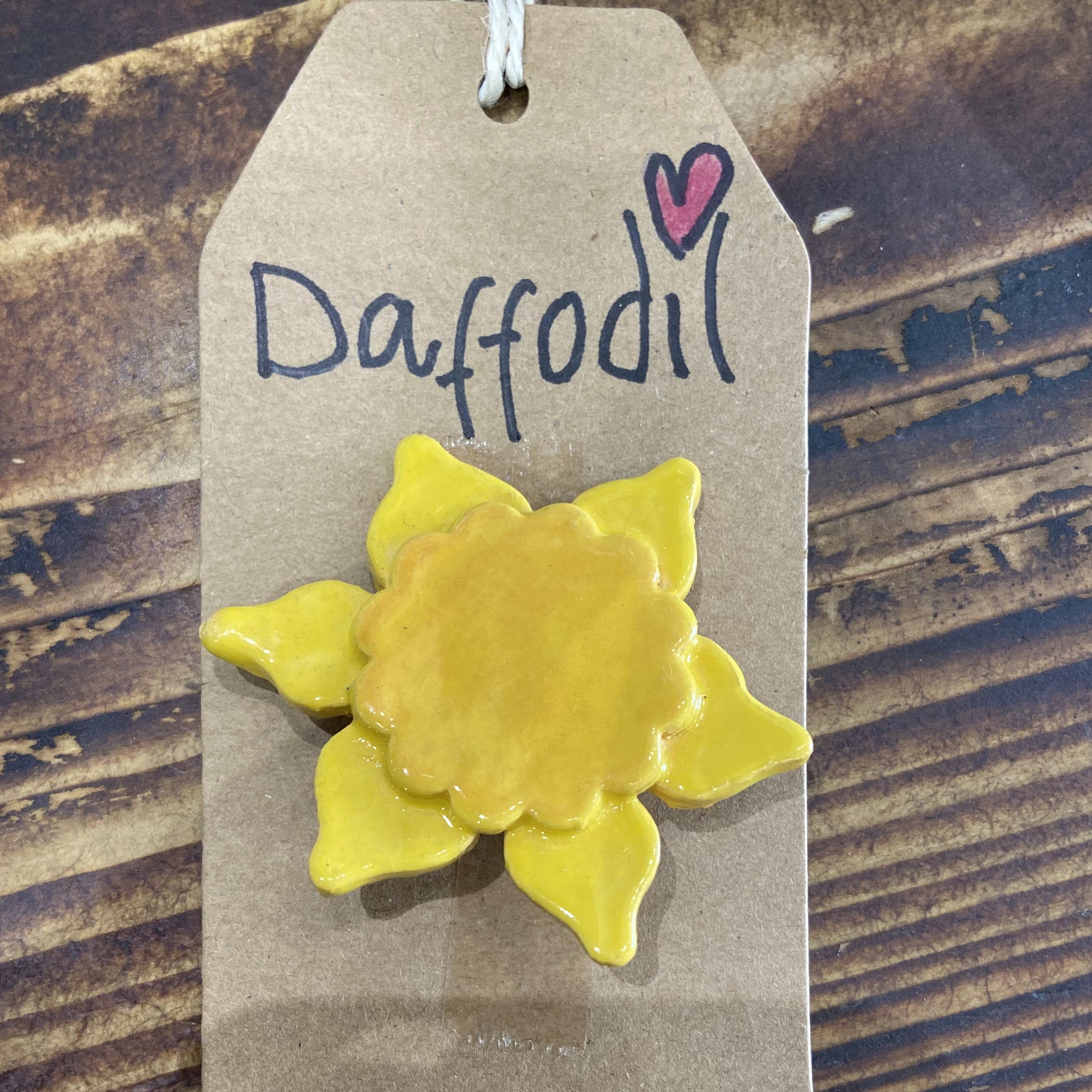 Daffodil Brooches Ceramic Sold on Behalf of Jane Richards