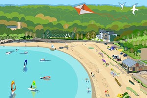 Oxwich Bay Giclee Print sold on behalf of Noodle Design