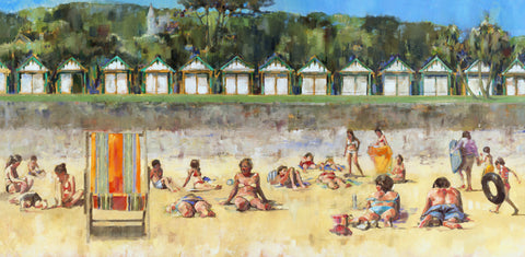 Sunbathers Langland Ltd Ed Print sold on behalf of Arwen Banning