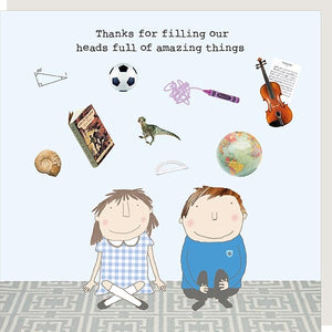 Amazing Things Teacher Greetings Card