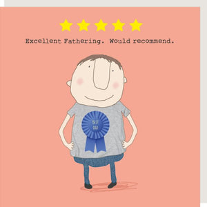 Five Star Dad Greetings Card
