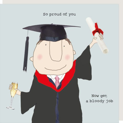 Grad Boy Get a Job Greetings Card