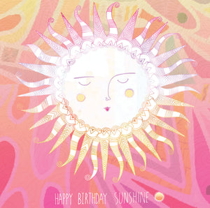 Sunshine Birthday Card by Hannah Davies