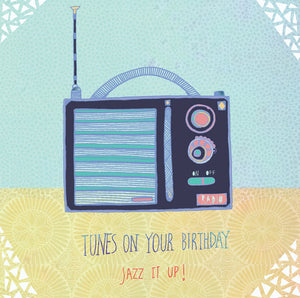 Radio Birthday Card by Hannah Davies