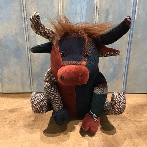 Patchwork Highland Cow Doorstop